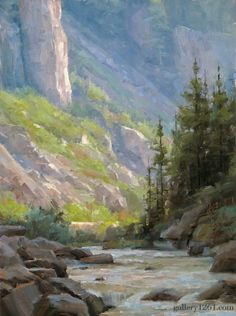 East Fork Morning by Dave A Santillanes, Mountain Landscape, Landscape Art, Landscape Paintings, Environment Painting, Unique Drawings, Great Paintings, Wow Art, Oeuvre D'art, Les Oeuvres
