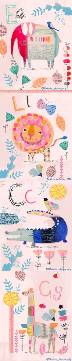 painted jungle tall pin - Victoria Johnson Design Art And Illustration, Character Illustration, Animal Illustrations, Vector Illustrations, Animal Drawings, Arte Sketchbook, Illustrators, Art For Kids, Creations