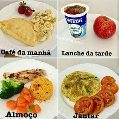 ⬇️ Perca de 3 a em com Low Carb ⬇️ – fitness meal prep Healthy Life, Healthy Eating, Nutrition, Avocado Toast, Meal Prep, Good Food, Food And Drink, Low Carb, Healthy Recipes