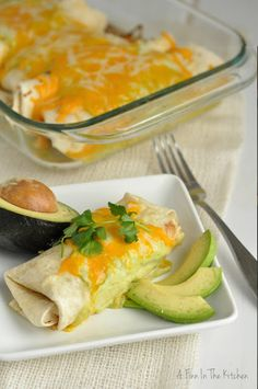 Spicy Avocado Chicken Enchiladas via @Loretta Ellenson {A Finn In The Kitchen}