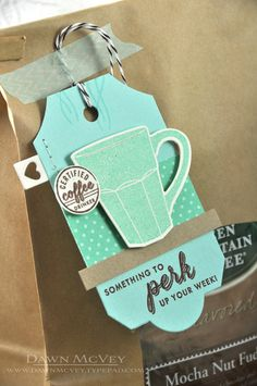Perk Up Your Week Tag by Dawn McVey for Papertrey Ink (August 2013)