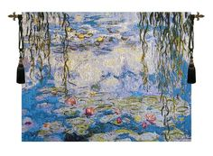 Water Lilies Les Nympheas European Wall Tapestry