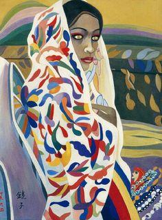 (Korea) Jamaican Beauty 1994 by Chun Kyung-ja (1924~2015). Korea. 천경자