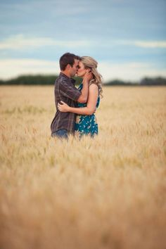 golden field #engagement photo - this would make a beautiful cover for a #Guest Book