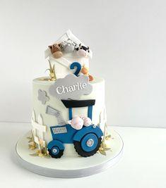 Barnyard Cake, Farm Cake, Sugar Cake, Name Plaques, Numbers, Boards, Birthday Cake, Pretty, Desserts