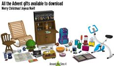 Around the Sims 4 | Custom Content Download | 2015 Advent Calendar Gifts