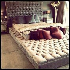 I wish we could have a bed like this! You know, for the nights we can't stand each other! Lol