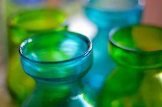 Blue Green Vases