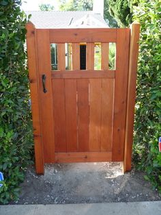 Arts & Crafts redwood entry gate, Los Angeles - Craftsman - Entry ...