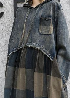 Modern patchwork linen cotton clothes For Women hooded Robe fall Dress – SooLinen Clothing Items, Boutique Clothing, Quilted Clothes, Elisa Cavaletti, Cotton Long Dress, Mori Girl Fashion, Fashion Courses, Mode Jeans, Ideias Diy
