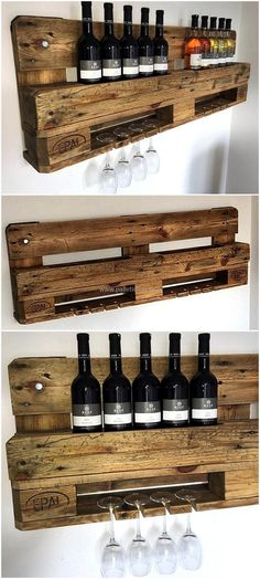 Pallet wooden bar is astounding craft. This craft holds several items for your ease. This helps you in beverage parties. This recycled material not only increases the beauty of the house but also provide a natural feel to the viewer. #pallets #woodpallet #palletfurniture #palletproject #palletideas #recycle #recycledpallet #reclaimed #repurposed #reused #restore #upcycle #diy #palletart #pallet #recycling #upcycling #refurnish #recycled #woodwork #woodworking