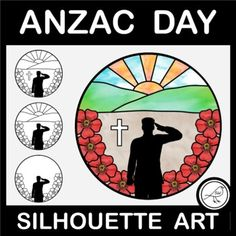 Art activity for Anzac Day, Armistice Day, Veterans Day, Memorial Day or Remembrance Day.2 ACTIVITY OPTIONS:Add colour to one of the templatesDraw your own background (hills and sun) and then add colour3 DIFFERENT TEMPLATES:with crosswithout crossdraw your own background (poppies and person are alre... School Resources, Classroom Resources, Poppy Template, Armistice Day, Anzac Day, Spelling Words, Remembrance Day, Silhouette Art, Writing Poetry