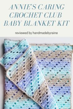 My second Annie's Caring Crochet Club kit arrived and this time it's a baby blanket. It's an easy crochet project to practice… Annie's Crochet, Fillet Crochet, Crochet Stitches, Baby Afghan Patterns, Crochet Blanket Patterns, Baby Blanket Crochet, Crochet Bookmark Pattern, Crochet Bookmarks, Crotchet Patterns