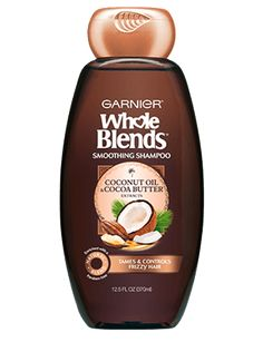 Garnier Whole Blends Smoothing Shampoo Coconut Oil & Cocoa Butter Extracts 12.5 Ounce