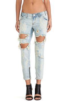 One Teaspoon jeans reto destruído Trashed Freebirds
