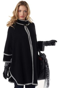 Seraphine Amira Knitted Maternity Cape | Maternity Clothes  available at Due Maternity www.duematernity.com