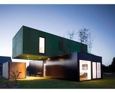 lofted shipping container    Such a COOL IDEA...  :)