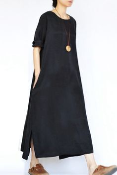 2016 Fall Thin Black Heavy Copper Ammonia Silk Dresses Long Sleeve Caftans Gown