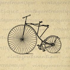 Antique Bicycle from 1880 Printable Graphic Download Bike Illustration Digital Image Artwork Vintage Clip Art. Vintage digital graphic from retro artwork for making prints, iron on transfers, papercrafts, pillows, tote bags, tea towels, and other great uses. Personal or commercial use. This digital image is high quality at 8½ x 11 inches large. Transparent background version included with all images.