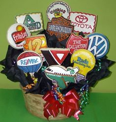 Logo cookies, Cookies In Bloom  602-955-3030