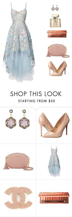 """""""cool blue"""" by leina-elansary on Polyvore featuring Cathy Waterman, Madden Girl, MICHAEL Michael Kors, Notte by Marchesa, Urban Decay and Gucci"""