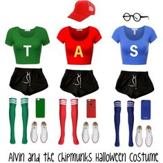Alvin and the Chipmunks Halloween costume by foreverunicorn15 on Polyvore featuring polyvore, fashion, style, Converse, MICHAEL Michael Kors, Casetify and clothing