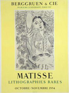 Original Poster Henri Matisse, Affiche original Henri Matisse, Original Plakat Henri Matisse,  title: lithographies rares  technology: lithography