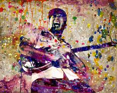 Tom Morello Art, Rage Against the Machine, Original Painting Art Print