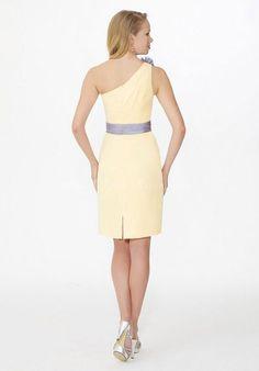 Short yellow dress. Maybe for my jr. bridesmaids