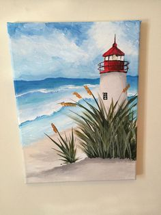 I am a new painter/college student who has never taken any lessons on painting and just randomly picked it up as a hobby. This is a small painting I did recently of a lighthouse and waves. I hope you enjoy