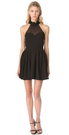 LOVE the cut of this dress minus the ruff :)