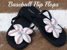 How To Make Baseball Flower Flip Flops – Video tutorial on How To Make Baseball Flower Flip Flops. Take a plain pair of flip flops and learn how to create a fun pair of flips with a baseball season theme!