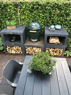 Small Garden Landscape, Small Backyard Gardens, Back Gardens, Backyard Landscaping, Outdoor Gardens, Backyard Retreat, Big Green Egg Outdoor Kitchen, Outdoor Kitchen Patio, Grill Gazebo