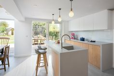 Cityzen redesigned the layout of this property's rear ground floor, restoring the kitchen as the heart of the home. Zen, Ground Floor, Restoration, Layout, Flooring, Architecture, Kitchen, Table, Design