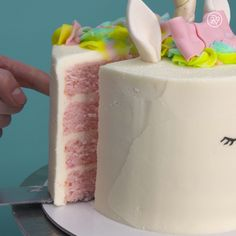 Imagine a beautiful unicorn. Now, imagine a beautiful unicorn cake!