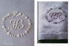 刺繍で描く イニシャルとモノグラム プリュムティ、ブティ、クロスステッチetc. : マルティーヌ・バルテュス&中山久美子ジェラルツ : 本…