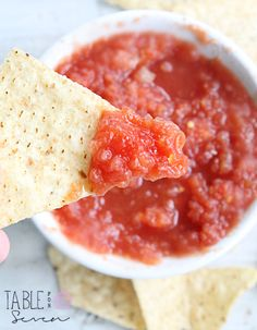 {Copycat} Chili's Salsa • Table for Seven