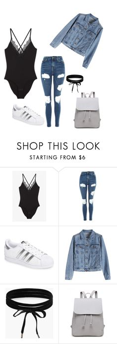 """""""Untitled #216"""" by rekac ❤ liked on Polyvore featuring Monki, Topshop, adidas and Boohoo"""