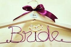 Wedding Hangers Personalized by I AM A BRIDE WEDDING