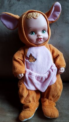 """1990 Lauer Water Babies with Winnie the Pooh """"Roo"""" outfit"""