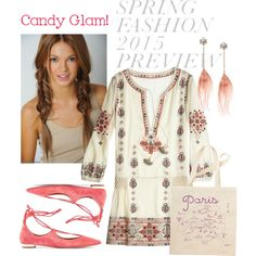 A fashion look from February 2015 featuring Calypso St. Barth dresses, Aquazzura flats and Betsey Johnson earrings. Browse and shop related looks.