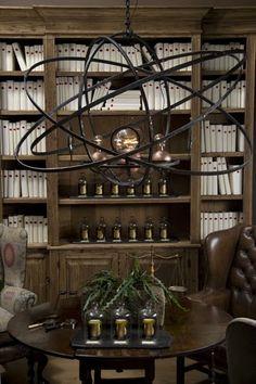Coup Detat--Victorian chandelier: Christina Fluegge photos  ... déco de bureau pour le Club ?