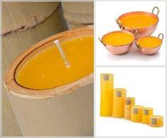 Diversos formatos de vela de citronela