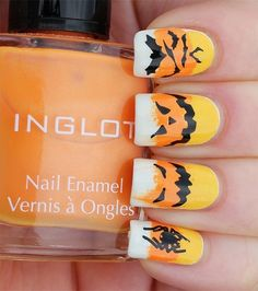 Candy corn nail art halloween nail art candy corn halloween pictures halloween images halloween ideas halloween nails