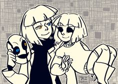 "by sunnycider: ""Goopy Soul hanging with CORE!Frisk"""