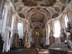 Inside St. Martin's Cathedral in Mainz Germany