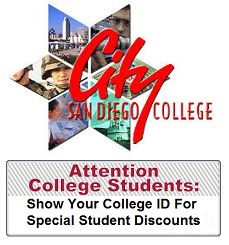 We have recently added more money saving offers to the website and currently calling local businesses to invite them to partner with our program. Check it out! City College, College Campus, College Student Discounts, San Diego City, College Students, Invite, University, Community