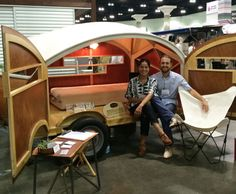 We round up some of the best stuff from the Dwell on Design LA 2014 show from planters to furniture to paper toys. Diy Camper Trailer, Teardrop Camper Trailer, Tiny Camper, Vintage Campers Trailers, Cool Campers, Vintage Airstream, Airstream Trailers, Rv Campers, Travel Trailers