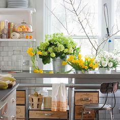 Fresh industrial kitchen.