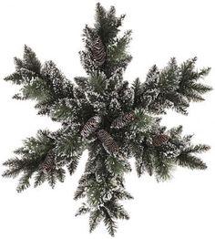 Martha Stewart Living™ Glittery Bristle Pine Snowflake - Holiday Decor - Christmas Decor - Lighted Snowflake   HomeDecorators.com